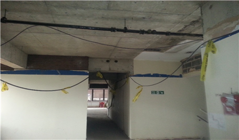 Live cabling during construction phase; labels may be destroyed in fire - photograph courtesy of  Nick Lacey
